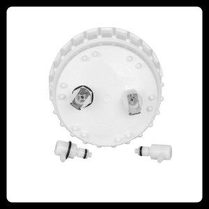 Zubehör - Ersatzdeckel für 1 Liter und 2 Liter Vakuumflasche mit Anschlüssen